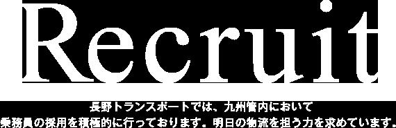 長野トランスポートでは、九州管内・中四国管内において乗務員の採用を積極的に行っております。明日の物流を担う力を求めています。